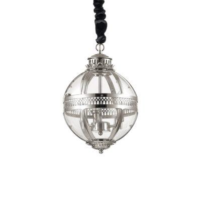 Sklenený luster v chrómovej úprave WORLD SP3 | Ideal Lux