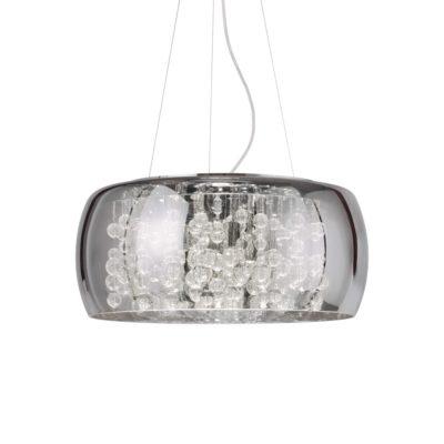 Závesný luster s dymovým skleneným tienidlom AUDI-80 SP8 | Ideal Lux