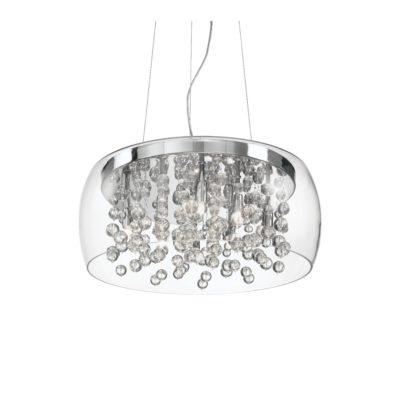 Závesný luster s transparentným skleneným tienidlom AUDI-80 SP8 | Ideal Lux