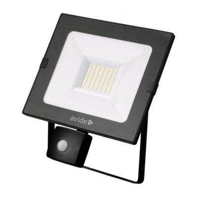 30W SLIM LED reflektor so senzorom, 2250lm, Denná biela.