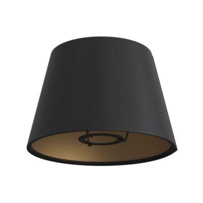Látkové tienidlo s priemerom 20cm v čiernej plátnovej farbe
