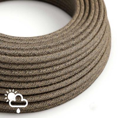 Kábel do exteriéru dvojžilový v podobe textilnej šnúry so vzorom, Marrone, 2 x 1mm, 1 meter