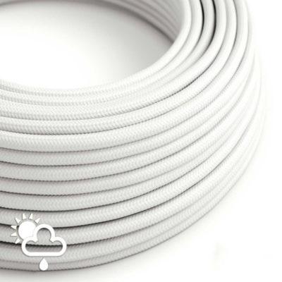 Kábel do exteriéru dvojžilový v podobe textilnej šnúry v bielej farbe, 2 x 1mm, 1 meter