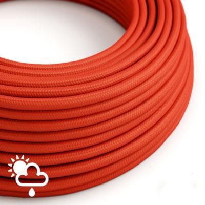Kábel do exteriéru dvojžilový v podobe textilnej šnúry v červenej farbe, 2 x 1mm, 1 meter