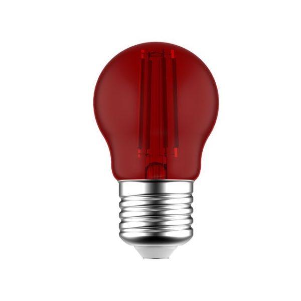 LED žiarovka Globetta E27, 1.4W, 16lm, Červená | Daylight Italia