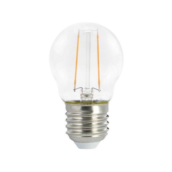LED žiarovka Globetta E27, 2W, 136lm, Číra   Daylight Italia