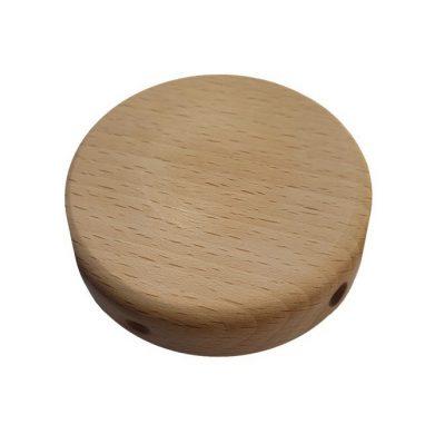 MINI drevený stropný držiak so 4 bočnými otvormi, 88mm