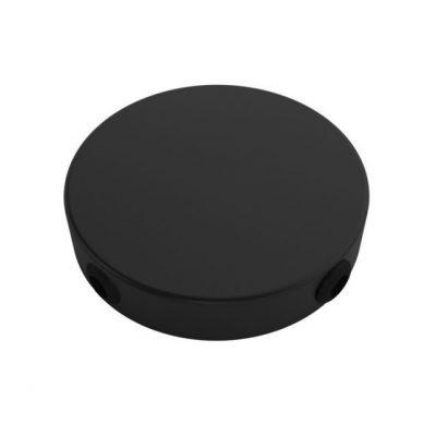 MINI stropný držiak so 4 bočnými otvormi, 8cm, kov, čierna farba
