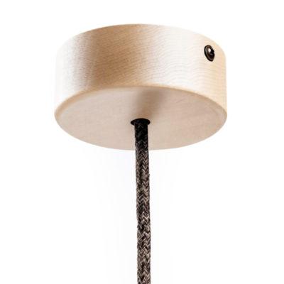 Mini Drevená jednoduchá stropná rozeta pre textilné káble
