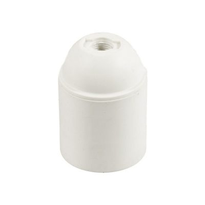 Termoplastová objímka E27 v bielej farbe