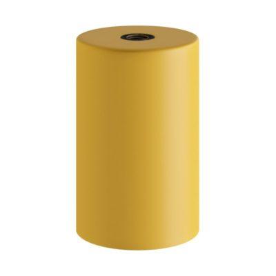 Horčicovo žltá kovová objímka z pastelového kovu so skrytou káblovou svorkou