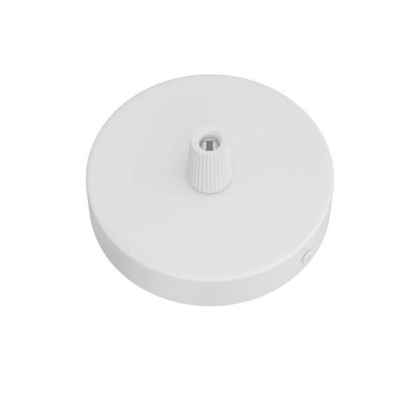 MINI matný biely stropný držiak pre 1 svietidlo, 8cm, kov