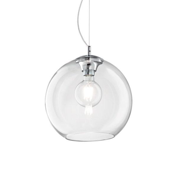 Moderný luster so sférickým difúzorom TRANSPARENT NEMO SP1 D40   Ideal Lux