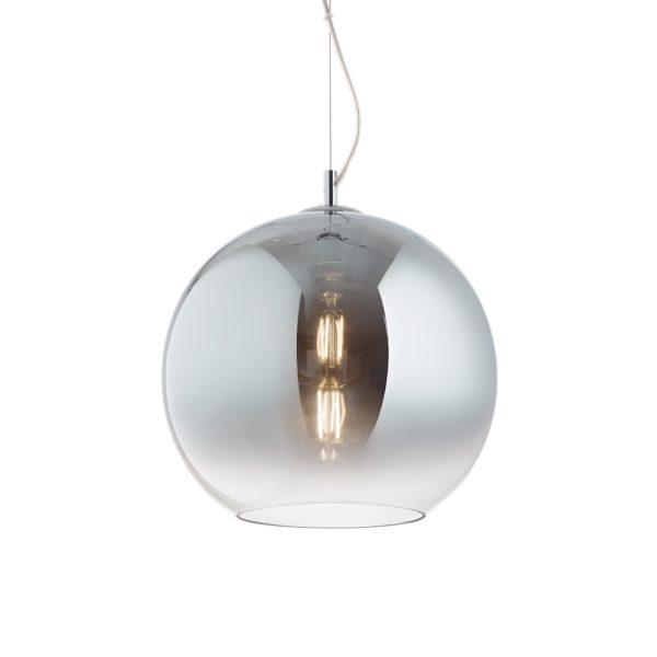 Moderný luster so sférickým difúzorom vo vyblednutej chrómovej farbe NEMO SP1 D40 | Ideal Lux