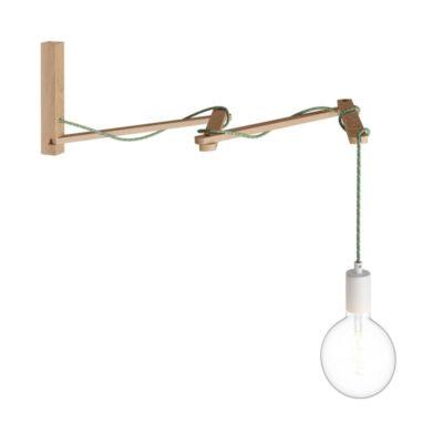 Nastaviteľná drevená nástenná podpera pre nástenné svietidlá, Pinocchio XL.