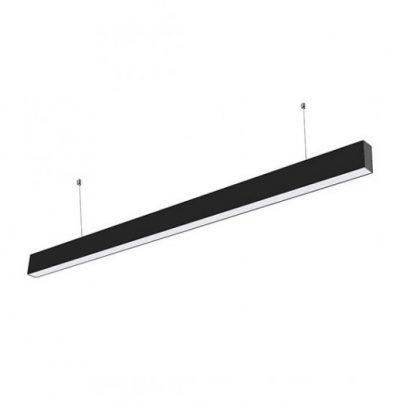 Pracovné svietidlo - Závesné lineárne svietidlo LED PRO Slim 40W, 3000K, 3200lm, čierna farba.