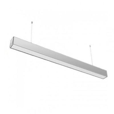 Pracovné svietidlo - Závesné lineárne svietidlo LED PRO Slim 40W, 6400K, 3200lm, strieborná farba