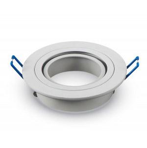 Rámik pre bodovku okrúhly biely hliník, V-TAC