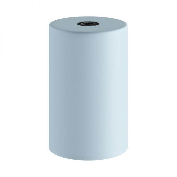 Svetlo modrá kovová objímka z pastelového kovu so skrytou káblovou svorkou