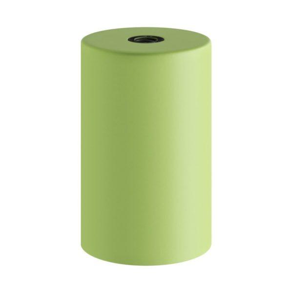 Svetlo zelená kovová objímka z pastelového kovu so skrytou káblovou svorkou