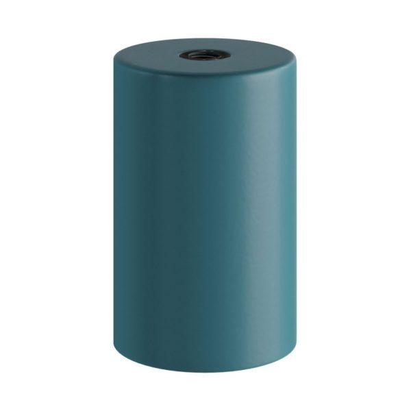 Tmavo tyrkysová kovová objímka z pastelového kovu so skrytou káblovou svorkou