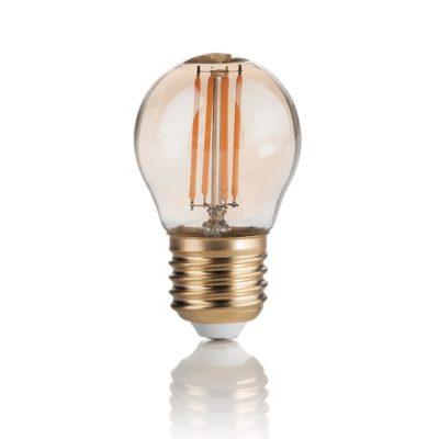 Žiarovka Filament SFERA so zlatým sklom, E27, 4W, 300lm, Teplá biela | Ideal Lux