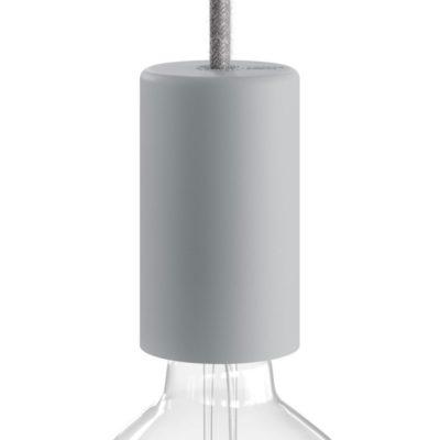 Exteriérová objímka so silikónovým elegantným krytom v sivej farbe