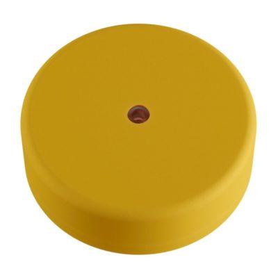Exteriérový stropný držiak z mäkkého silikónu s krytím IP65 v pastelovej žltej farbe