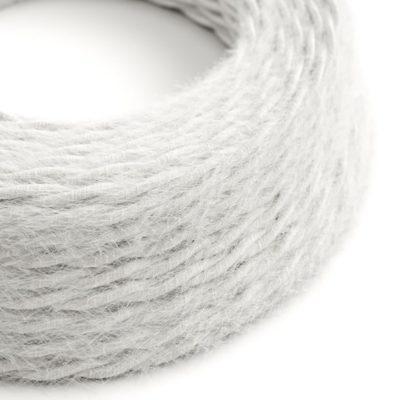 Kábel dvojžilový skrútený s chlpatým efektom v bielej farbe, 2 x 0.75mm, 1 meter