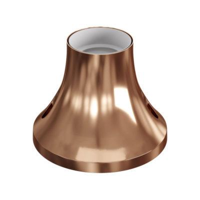 Stropná a nástenná objímka z kovu, E27, medená farba