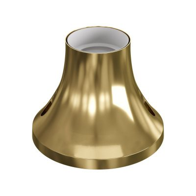 Stropná a nástenná objímka z kovu, E27, zlatá farba
