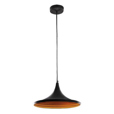Závesné retro svietidlo CARIN v čiernej farbe