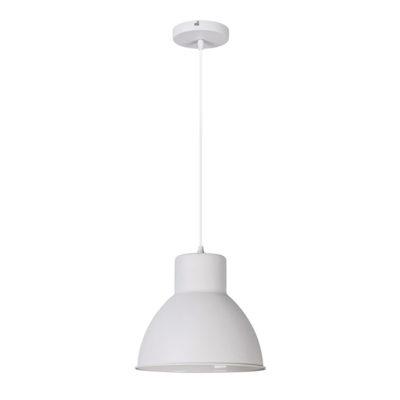 Závesné retro svietidlo DEREK v matnej bielej farbe