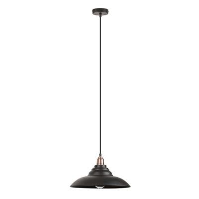 Závesné retro svietidlo DOUG v matnej čiernej farbe