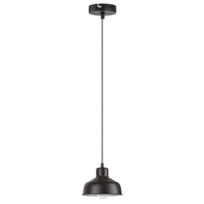 Závesné vintage svietidlo OWEN v čiernej farbe