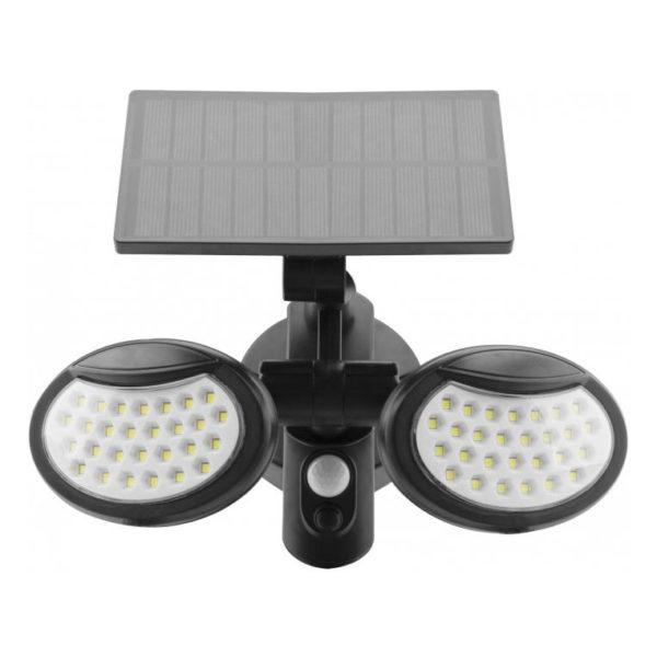 LED nástenné solárne svietidlo s pohybovým senzorom, 10W, IP65, 400lm.