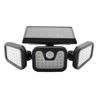 LED nástenné solárne svietidlo s pohybovým senzorom, 15W, IP65, 600lm.