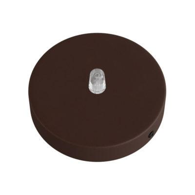 Hrdzavý stropný držiak pre 1 svietidlo, 12cm, kov