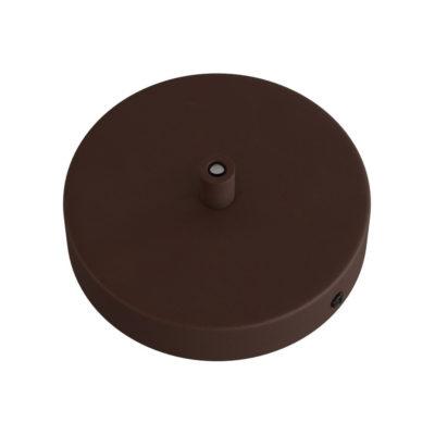 Stropný držiak pre 1 svietidlo, 12cm, kov, hrdzavá farba
