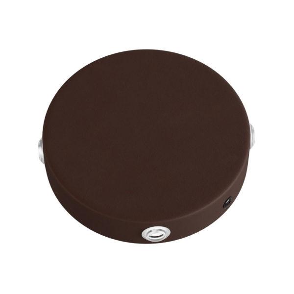 Stropný držiak so 4 bočnými otvormi, 12cm, kov, hrdzavá farba