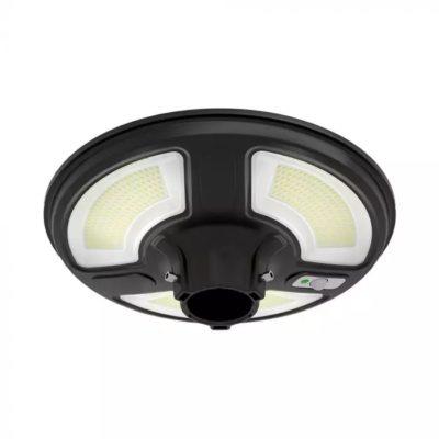 Solárne LED záhradné svietidlo na stĺp 10W, Studená biela, 1500lm, IP65, čierna.