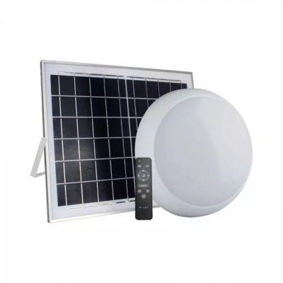 Stropné LED svietidlo so solárnym panelom 10W, CCT, 900lm, IP65, biela farba