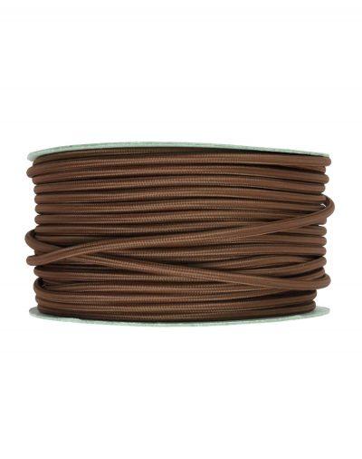 Kábel dvojžilový v podobe textilnej šnúry v hrdzavej farbe, 2 x 0.75mm, 1 meter.