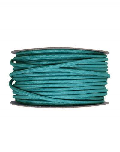 Kábel dvojžilový v podobe textilnej šnúry v tyrkysovej farbe, 2 x 0.75mm, 1 meter,