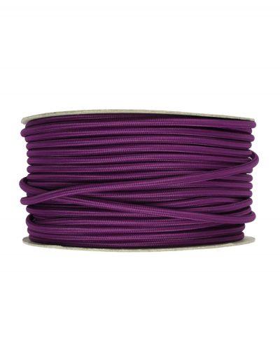 Kábel dvojžilový v podobe textilnej šnúry v ultraviolet farbe, 2 x 0.75mm, 1 meter