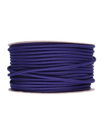 Kábel dvojžilový v podobe textilnej šnúry v zafírovej farbe, 2 x 0.75mm, 1 meter