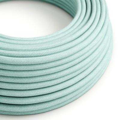 Elektrický kábel dvojžilový potiahnutý bavlnou v Celadon farbe