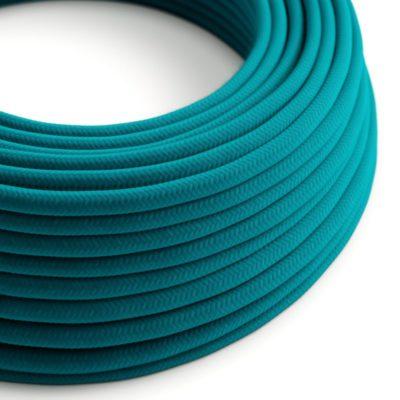 Elektrický kábel dvojžilový potiahnutý bavlnou v Cerulean farbe, 2 x 0.75mm, 1 meter