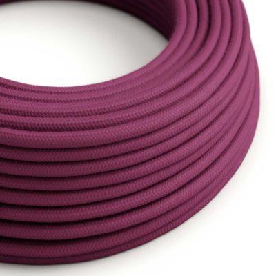 Elektrický kábel dvojžilový potiahnutý bavlnou v bordovej farbe, 2 x 0.75mm, 1 meter