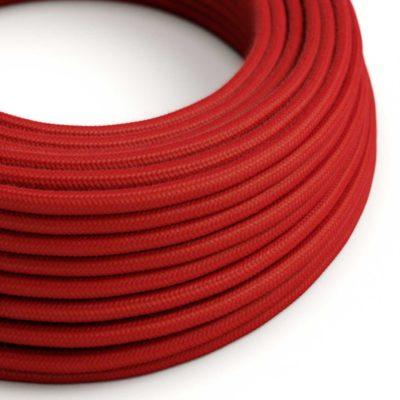 Elektrický kábel dvojžilový potiahnutý bavlnou v červenej farbe, 2 x 0.75mm, 1 meter